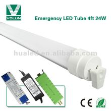 4ft T10 24W battery operated t8/t10 led emergency led tube light made in china