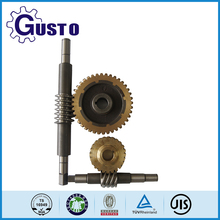 custom centrifugal casting brass alloy worm gear and worm shaft for worm gear box manufacturer