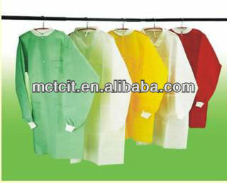 Disposable PP/SMS/PP PE/ Workwear /Work Suit/Visitor Coat//PE Lab Coat