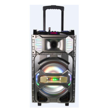 Portable big power 8 inch trolley dj max speaker with bluetooth Two Wireeless MIC USB SD TF