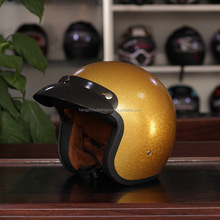Hot Selling Retro Motorcycles Halley Helmet,CZY-007 Halley Cross country helmet,luxurious Golden motocrossbike helmet