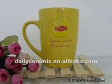 12oz ceramic mug with lipton decal for promotion