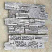 grey granite mesh back stone wall cladding slate