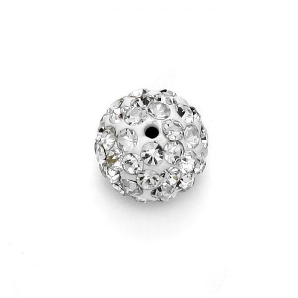 Rhinestone, shamballa crystal beads, one hole discoball, disco ball beads for jewelry making DIFFERENT COLORS AND SIZES