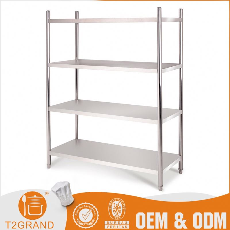 Competitive Price Stainless Steel Four-Layer Pipe Heavy Duty Shelf Warehouse Storage Floor Rack
