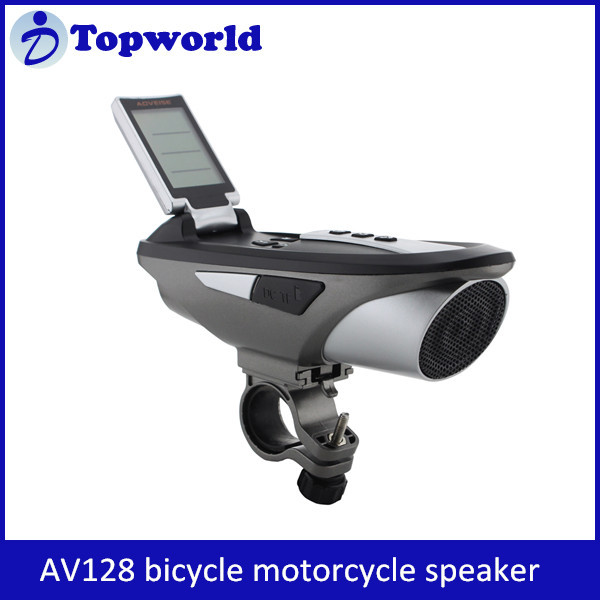 Latest style!!! waterproof bicycle speaker motorcycle speaker with warning Bluetooth mobile power digital music whistle function
