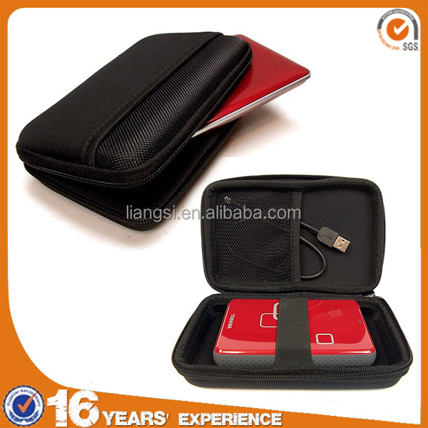 fashion easy carrying zipper EVA Molded packaging box for external hard drive