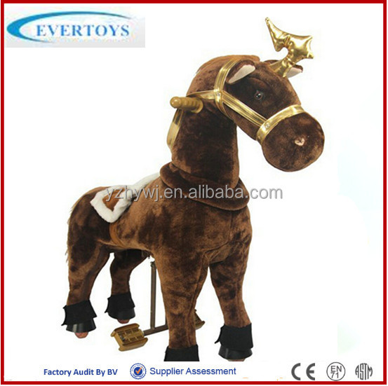 plush toy kid riding horse stuffed christmas animal toy