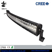 "Facytory 52"" crees led light bar 288w curved off road light bar for tractor trailer suv 4x4"