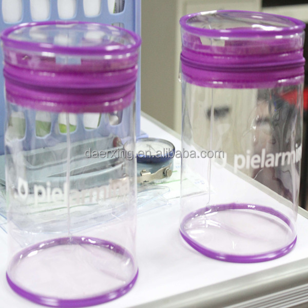 Factory price CMYK printed clear plastic zipper bag round shape made by Daerxing