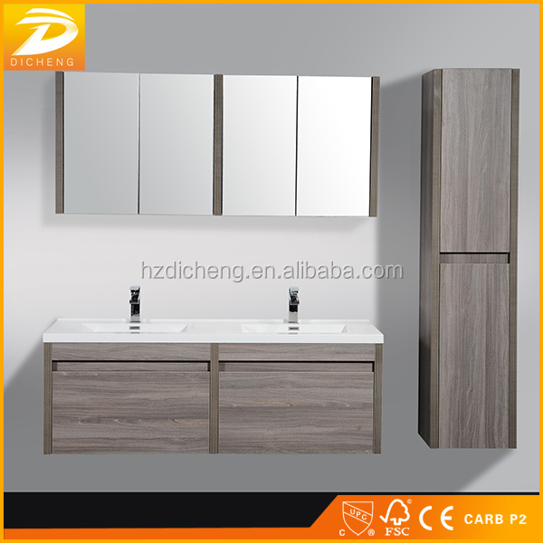 60 Inch Wall Mounted Double Sinks Contemporary Bathroom Vanity Ideas