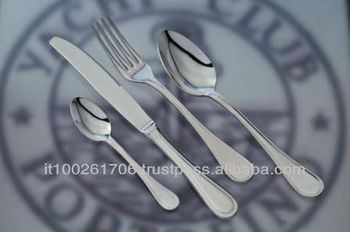 table set in Silver Plus with custom logo YCP - linea Boheme
