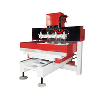NC-2010 cylinder 4 axis wood carving machine with 4 heads