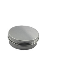 High quality cosmetics round aluminum tin box with screw cap