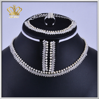 fashion angel rhinestone crystal female bead necklace pendants or charms wedding jewelry set
