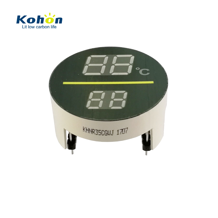 Customized 4 digit 0.3 inch 0.4 inch double colors yellow-green white emitting color round led digital display board