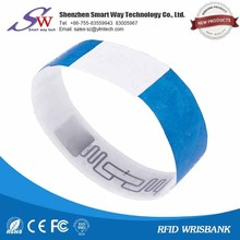 optional color rfid patient paper wristband for hospital