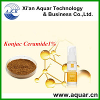 ISO9001-2008 certified factory supply bulk & high quality konjac ceramide 1%