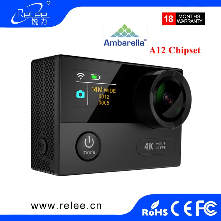 2017 Ambarella A12S75 Dual Screen action camera A12 sports action camera 4K