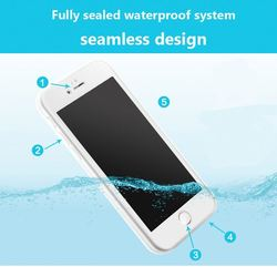 2016 Hot-selling waterproof phone case for Iphone5 iphone6 iphone7 plus TPU PC showerproof cell phone case