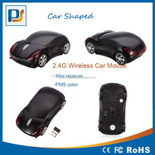 USB 2.4G usb 1600dpi 3D Optical Wireless mouse Car shape mouse PC PMS color