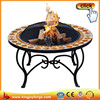 Delicate circular brazier outdoor Mosaic table fire pit