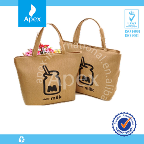 Wholesale printed jute shopping tote bag