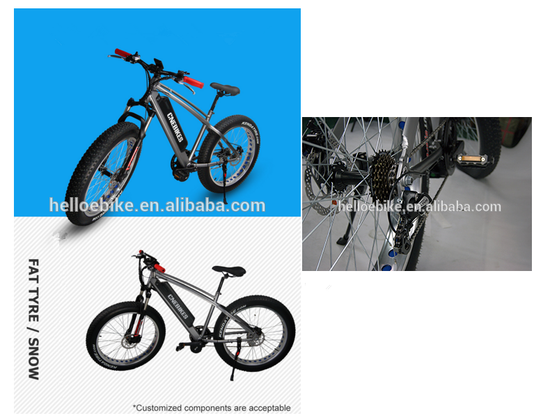 good quality 26'' electric fatbike/electric fat tyre MBT with 750w hub motor