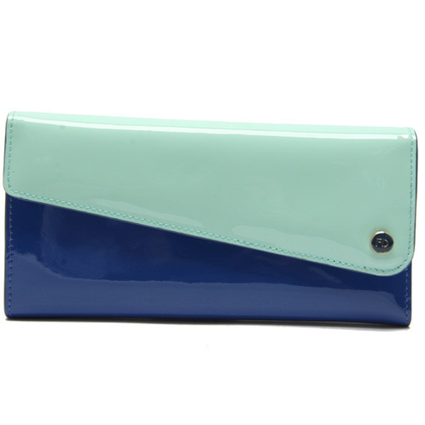 Pretty Stitching color leather aluma wallet for fashion lady
