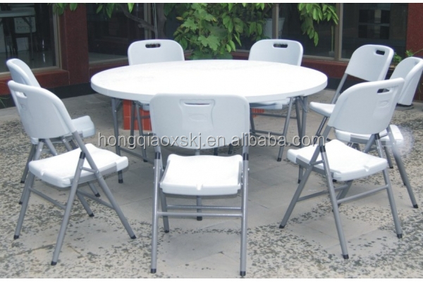 Round Table Banquet Folding Table Big Round Plastic Dining Table