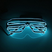 Shutter Shape EL Wire Glasses - Flashing Led EL Glasses for Party Gift Chrismas