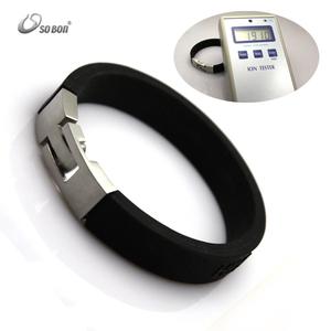 Top Black Silicon Watches Strap Silicone Sports Extreme Energy Bracelet