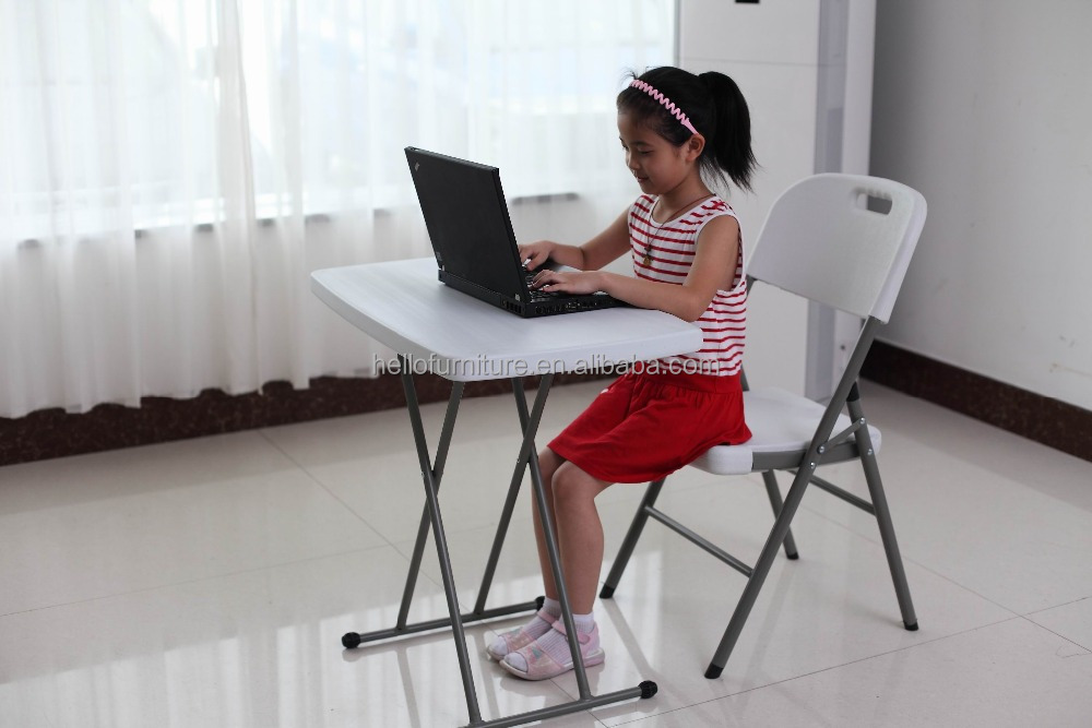 simple adjustable height used plastic folding study table,computer table design