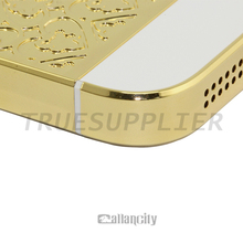 Factory price wholesales 24k gold for iphone 5 back cover housing