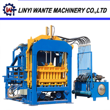Hot sale QT4-15 automatic motor engine concrete paving block and brick making machine
