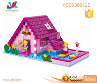 2016 Cheap festival gift DIY house building blocks for kids