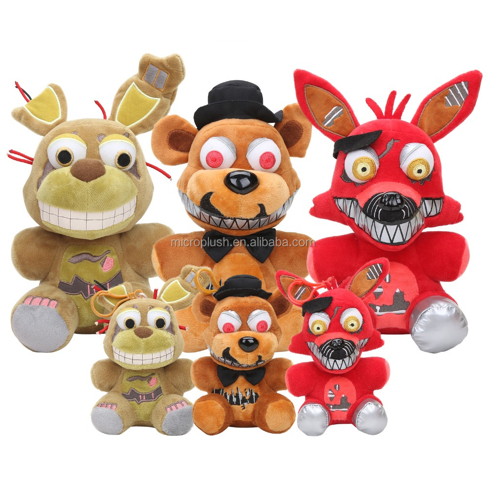 25cm 15cm Five Nights At Freddy toy FNAF Foxy bonnie Springtrap Freddy Nightmare Doll Plush Toys