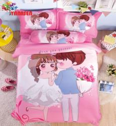 Romantic Cartoon Bedding Duvet Cover Set about Everlasting Love