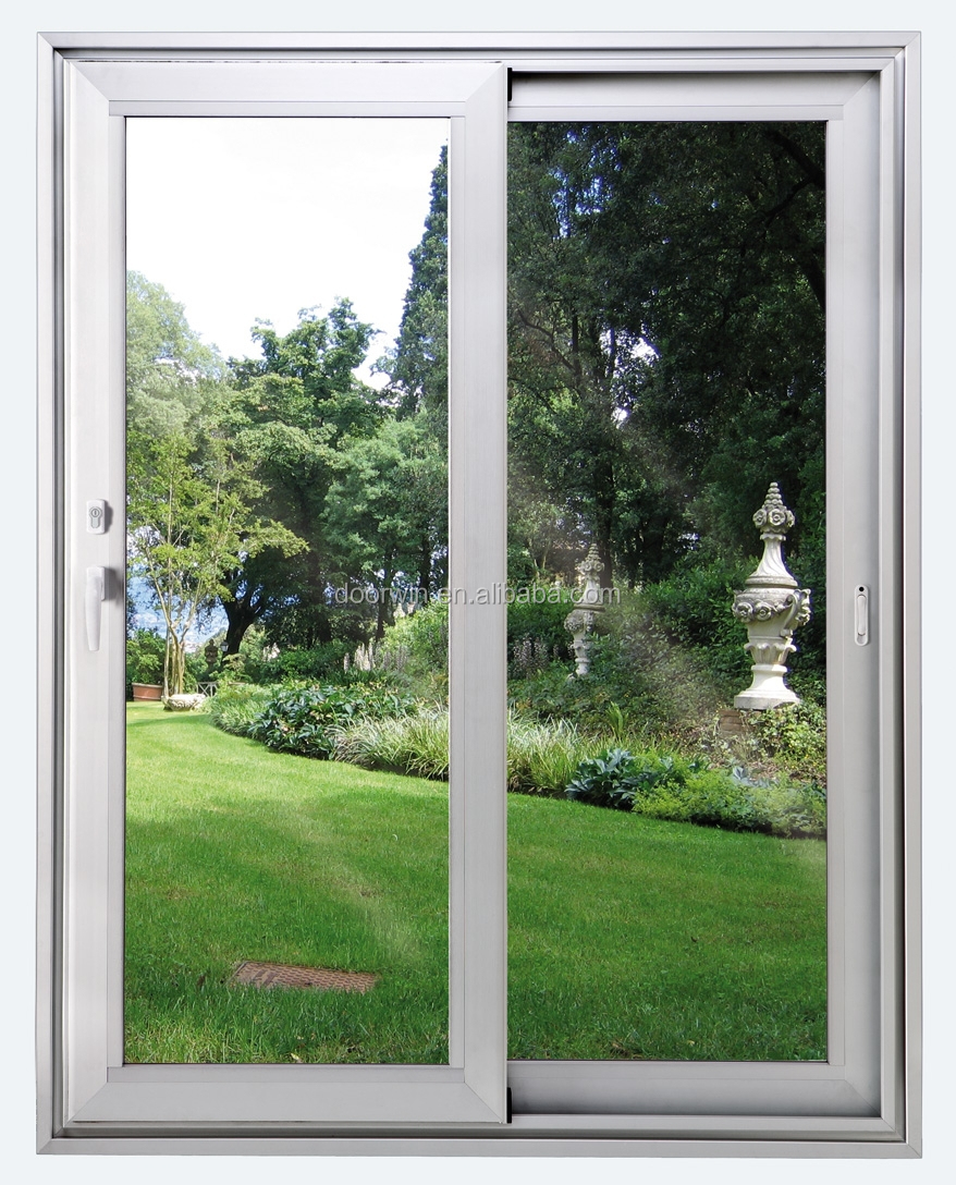 aluminum sliding window with mosquito net track