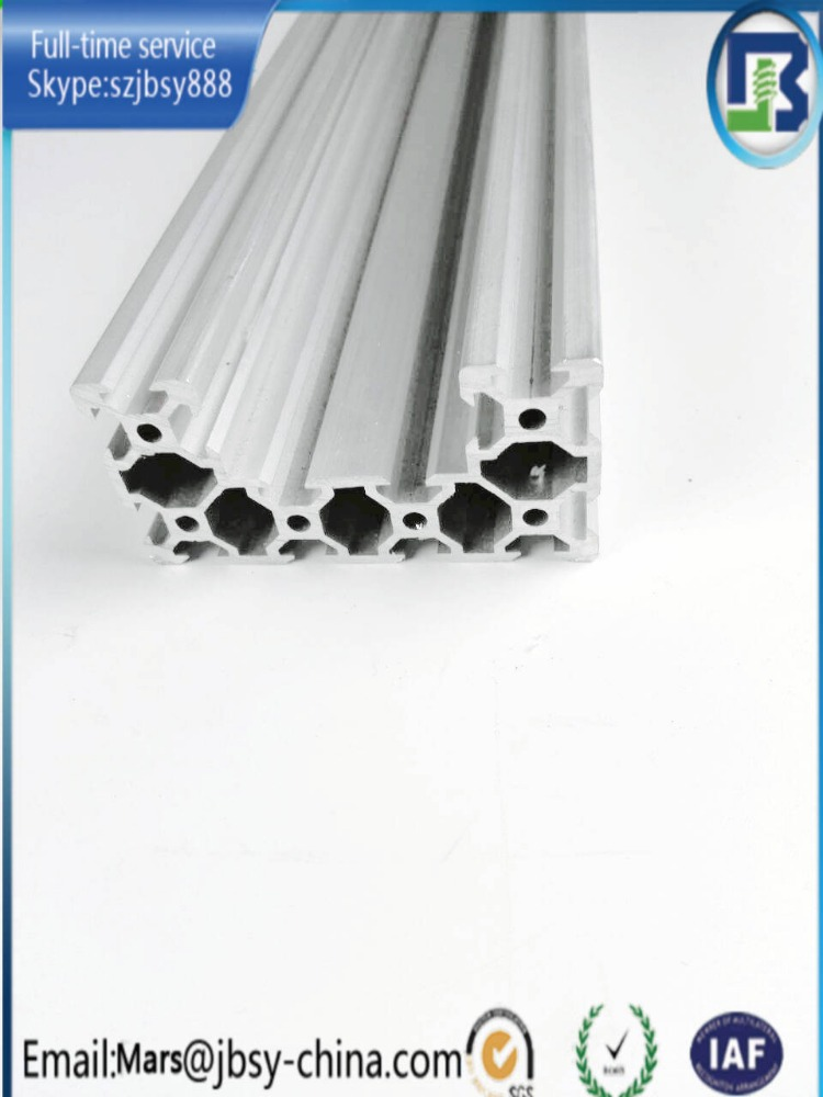4080 Clear aluminum u channel profile for Actuator end mount