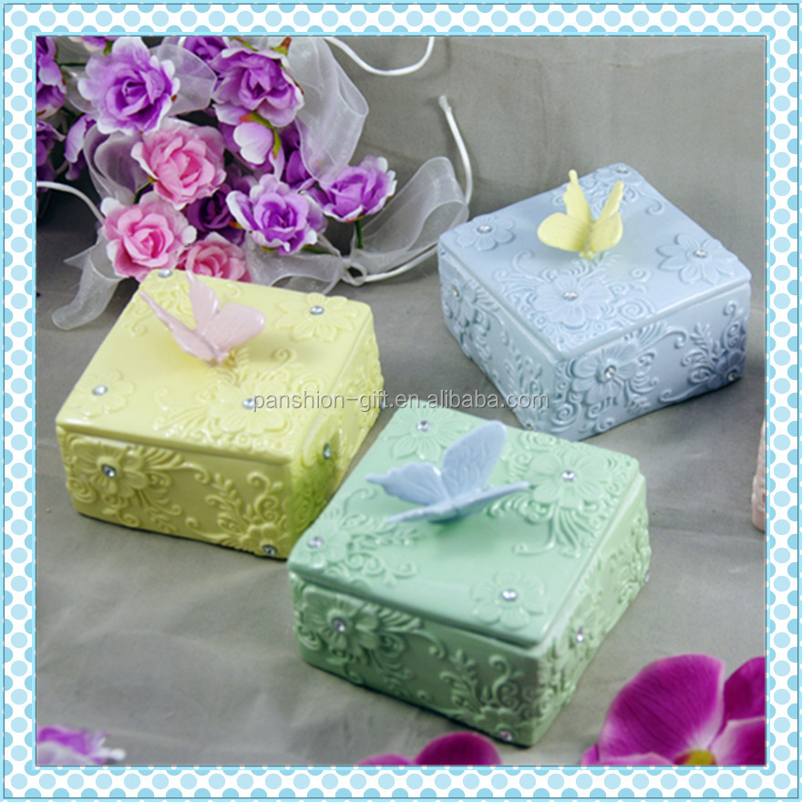 Home decoration morden custom ceramic jewelry packaging box