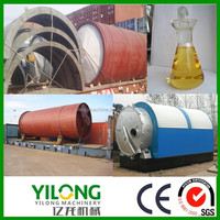 Professional technology tyre pyrolysis process for fuel/diesel oil
