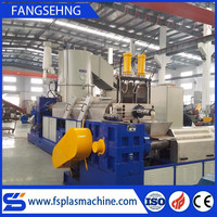 pe film plastic extruder machine making pellets recycling line