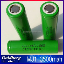LG MJ1 battery rechargeable 3.7v lithium cylindric 18650 3000mah battery genuien LG MJ1