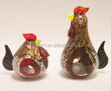 hot sale high quality glass rooster