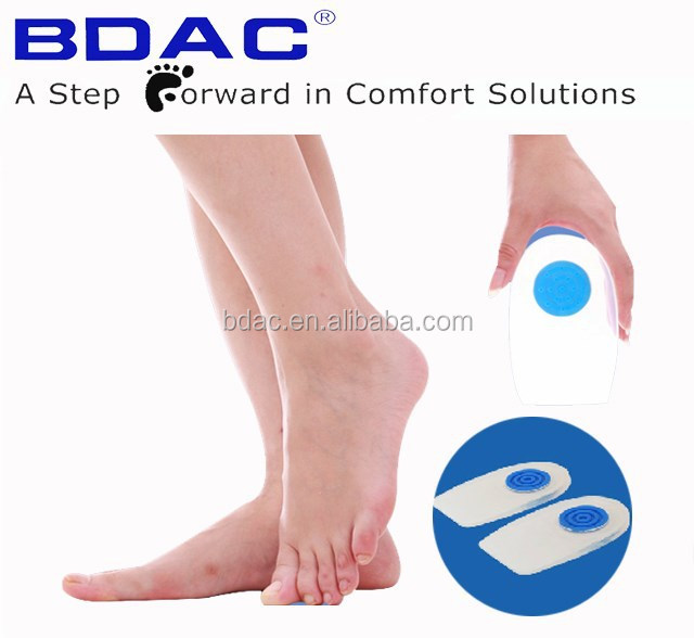 medical silicone shoe insert heel pad cushion inner soles heel spur