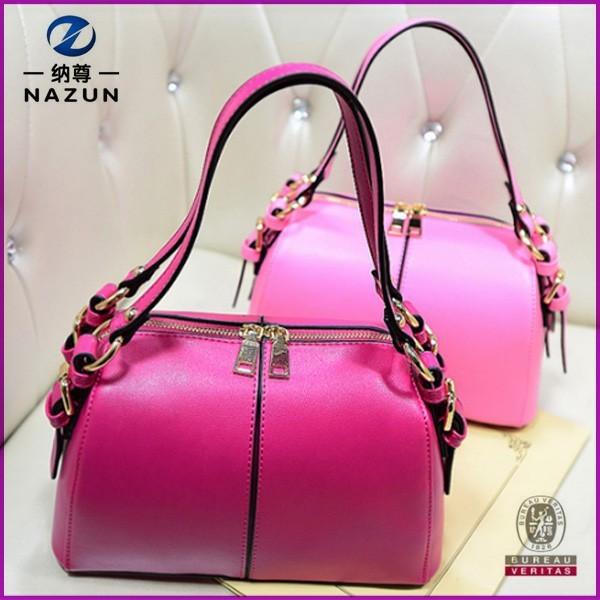 summer selling hot pink double zippers korea ladies small handbag