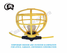 Outdoor Yellow Commercial Contractor-Grade Plastic Cage 100FT 10 Sockets globe String Lights
