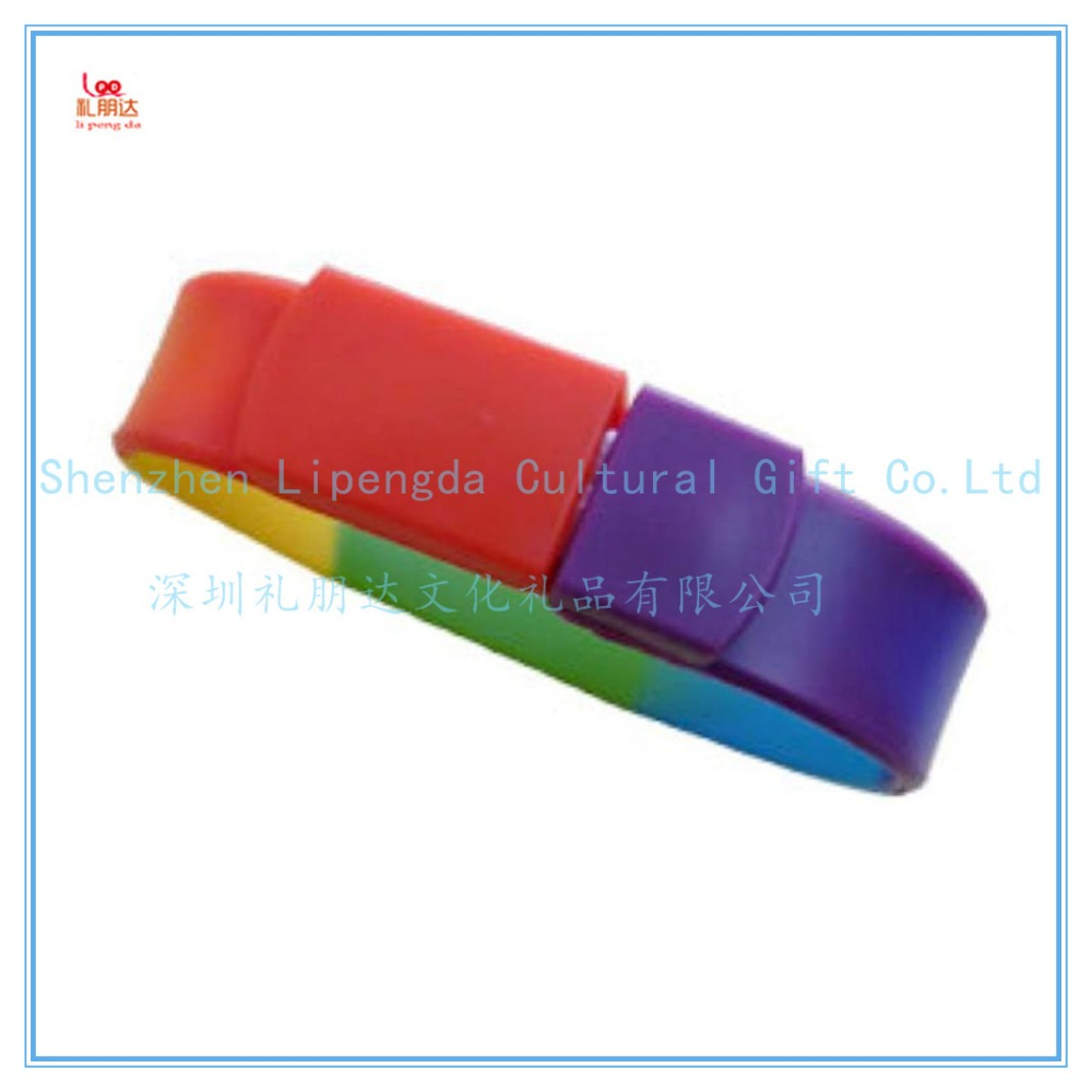 Wholesale custom usb silicone bracelet wristband, bracelet usb wristband, usb flash memory stick for usb