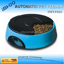 cat with food slow dog food bowl 4 Meal LCD Automatic Pet Feeder
